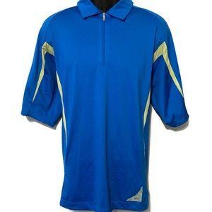 Nike Golf Men's Blue & Gray 1/4 Zip Polo